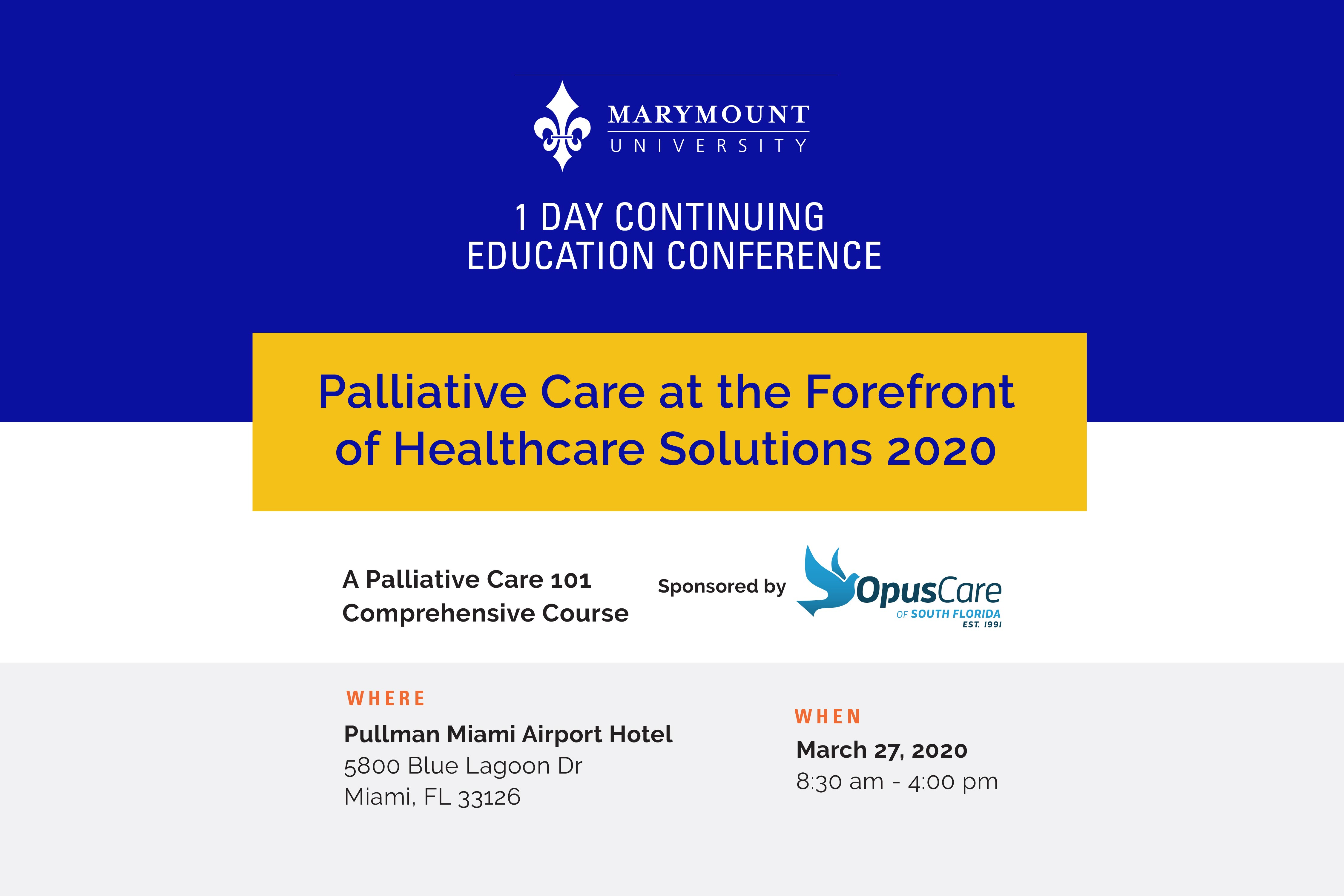 Palliative care at the Forefront of Healthcare Solutions 2020