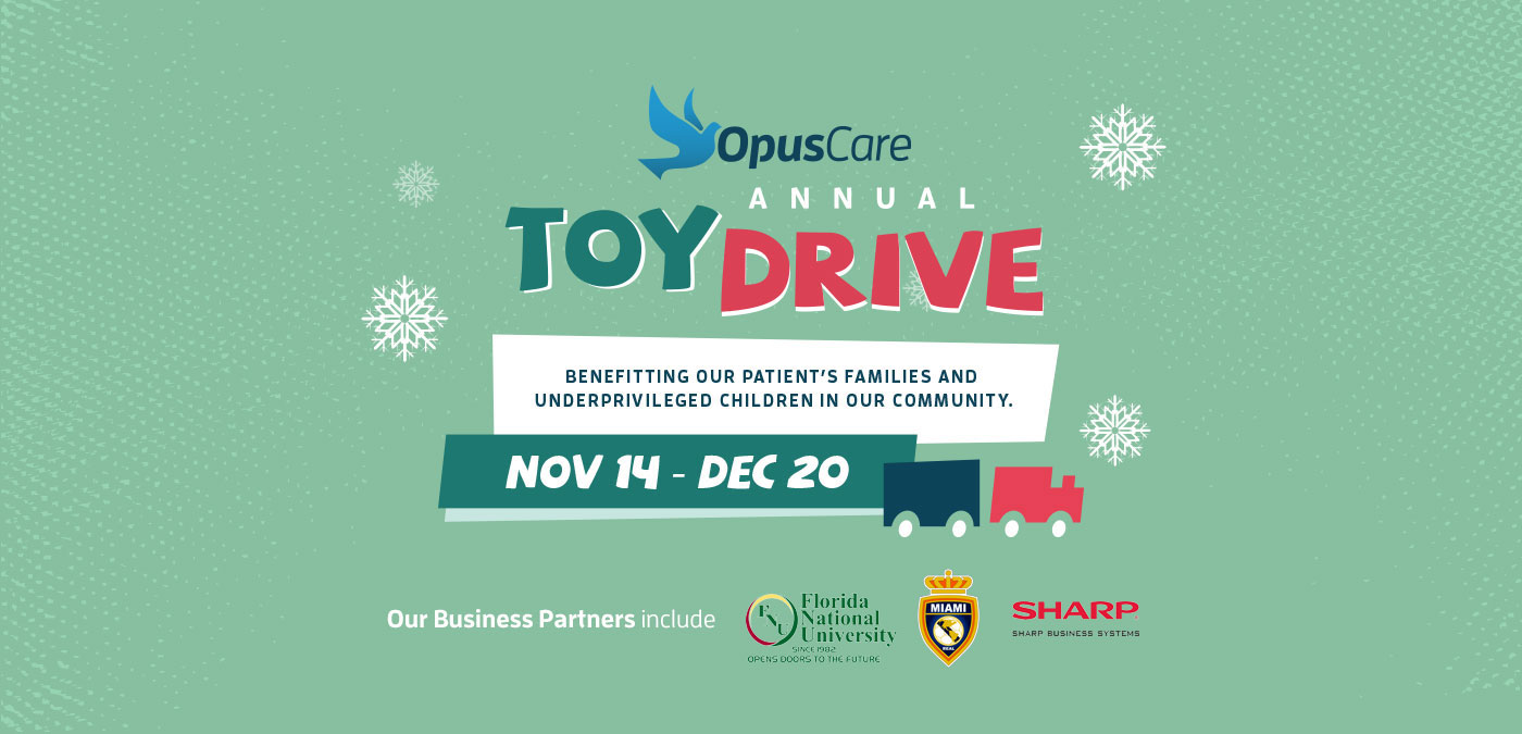 OpusCare Annual Toy Drive, November 14 - December 20